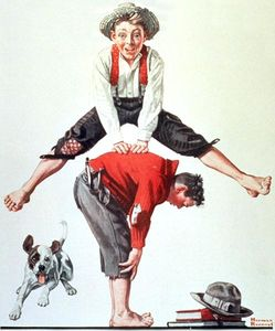 Norman Rockwell - Leap