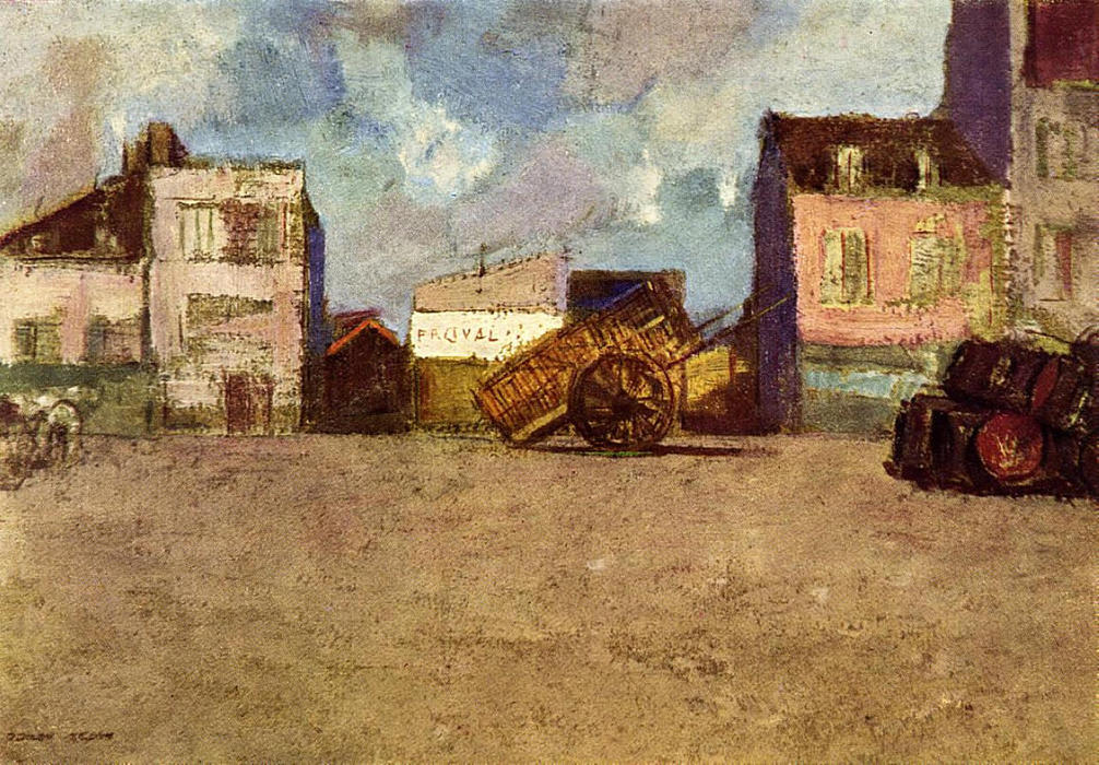 Near the Harbor, 1880 by Odilon Redon (1840-1916, France) | Museum Art Reproductions | ArtsDot.com