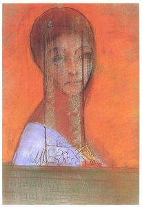 Odilon Redon - Woman with veil