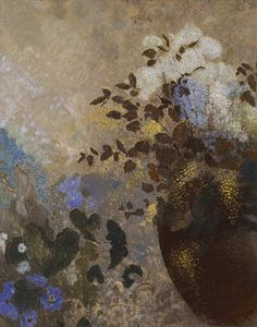 Odilon Redon - Flowers in a Black Vase