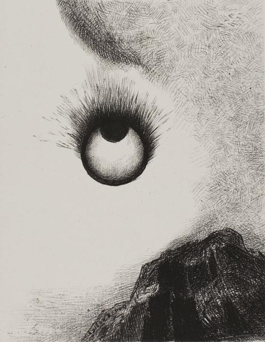 Everywhere eyeballs are aflame, 1888 by Odilon Redon (1840-1916, France) | Oil Painting | ArtsDot.com