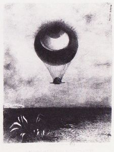 Odilon Redon - The eye like a strange balloon goes to infinity