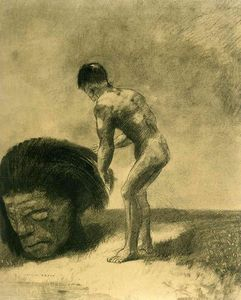 Odilon Redon - David and Goliath