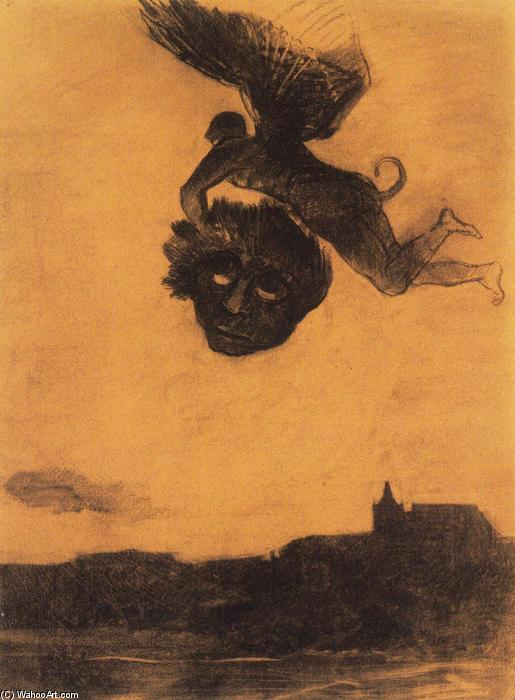 Devil take a head in the air, 1876 by Odilon Redon (1840-1916, France) | Museum Quality Reproductions | ArtsDot.com