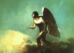 Odilon Redon - The Winged Man (The Fallen Angel)