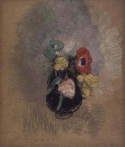 Odilon Redon - Anemones and Tulips