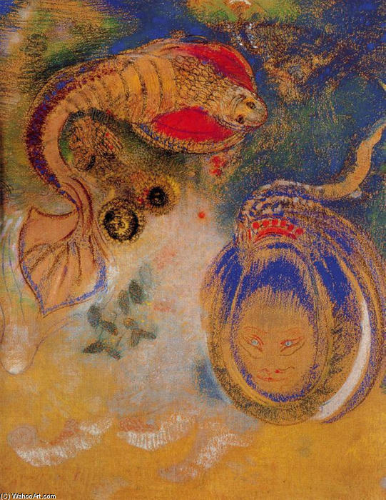 Order Art Reproduction : Animals of the Bottom of the Sea by Odilon Redon (1840-1916, France) | ArtsDot.com