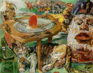 Oskar Kokoschka - The red egg