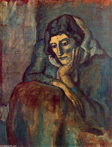 Pablo Picasso - Woman in blue