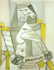 Pablo Picasso - Seated woman with spelling book