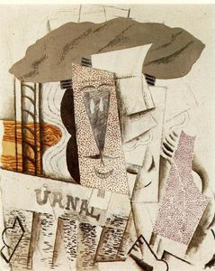 Pablo Picasso - Student with newspaper
