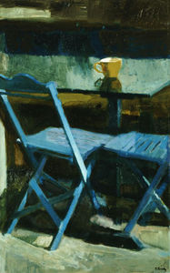 Panayiotis Tetsis - The blue chairs II