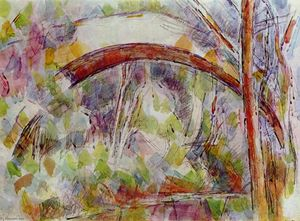 Paul Cezanne - River at the bridge of the three sources