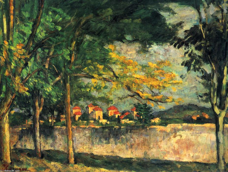 Road, 1876 by Paul Cezanne (1839-1906, France) | Museum Art Reproductions Paul Cezanne | ArtsDot.com