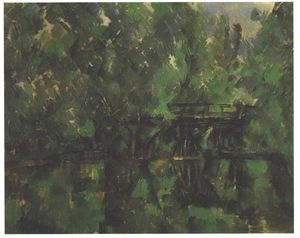 Paul Cezanne - Bridge over the pond