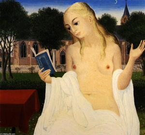 Paul Delvaux - The Lady of Loos