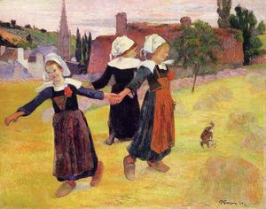 Paul Gauguin - Breton girls dancing