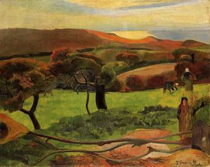 Paul Gauguin - Breton Landscape - Fields by the Sea (Le Pouldu)