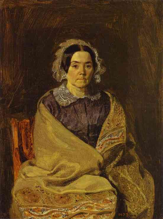 Order Art Reproduction : Portrait of N. P. Chernyshova, 1847 by Pavel Fedotov (1815-1852) | ArtsDot.com
