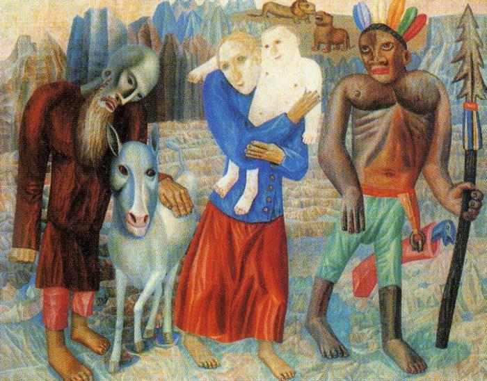 Flight to Egypt, 1918 by Pavel Filonov (1883-1941, Russia) | ArtsDot.com