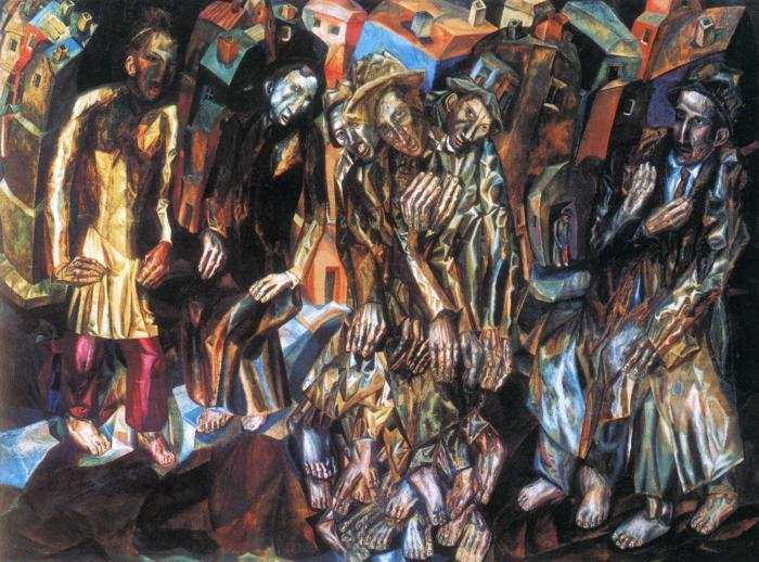 Rebirth of the People by Pavel Filonov (1883-1941, Russia) | Art Reproduction | ArtsDot.com