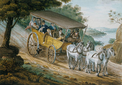 Travel by Stagecoach Near Trenton, 1812 by Pavel Svinyin | Museum Quality Reproductions | ArtsDot.com