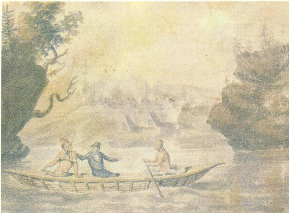 American Indians in the boat, 1812 by Pavel Svinyin | ArtsDot.com
