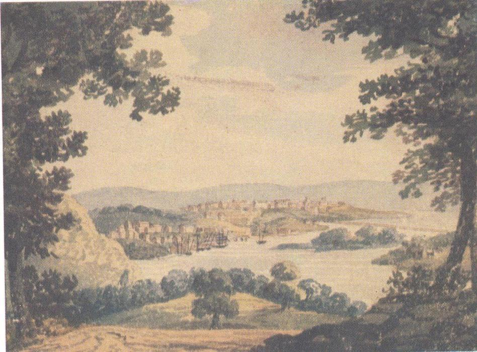 View of Washington, Watercolour by Pavel Svinyin
