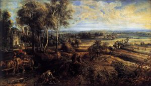 Peter Paul Rubens - Autumn Landscape with a View of Het Steen