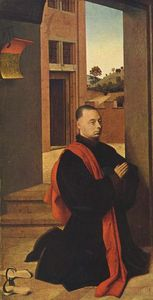Petrus Christus - Kneeling male donor