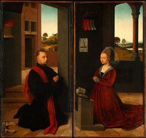 Petrus Christus - Portrait of a Male and Female Donor