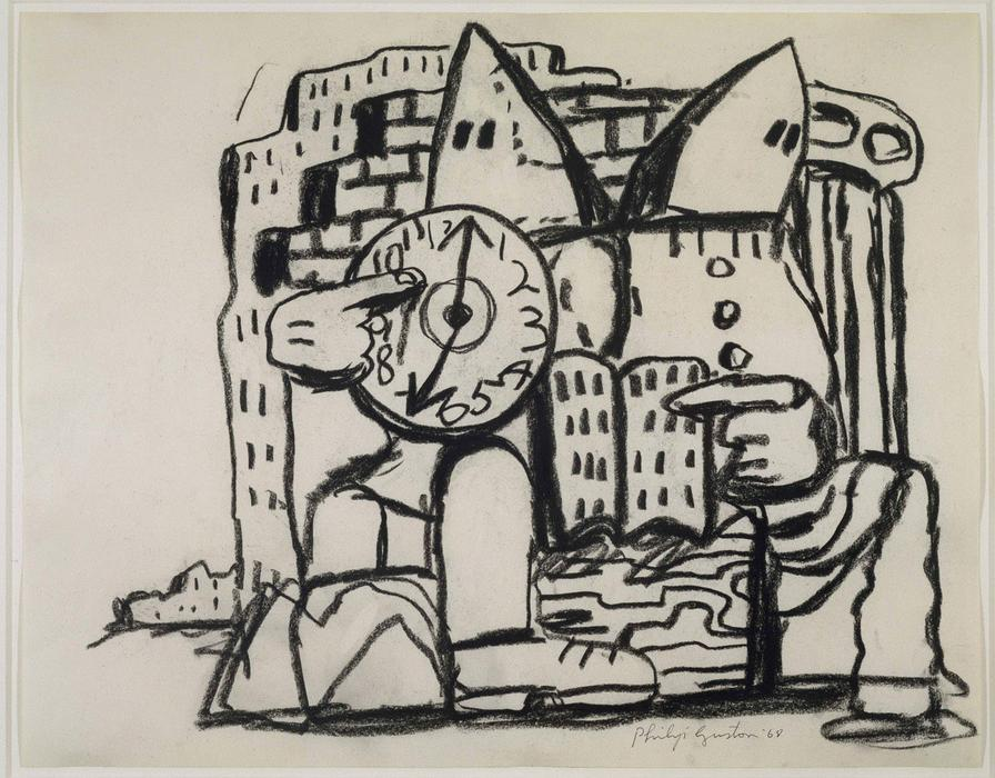Untitled, 1968 by Philip Guston (1913-1980, Canada) | ArtsDot.com
