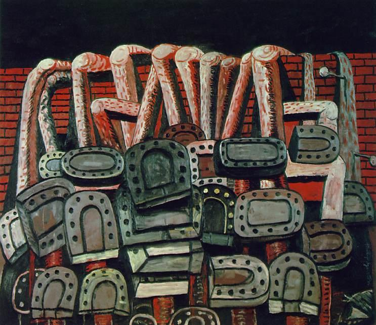 Ancient Wall, 1976 by Philip Guston (1913-1980, Canada)