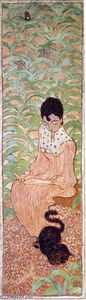 Pierre Bonnard - Sitting Woman with a Cat