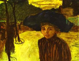 Pierre Bonnard - Woman in a Blue Hat