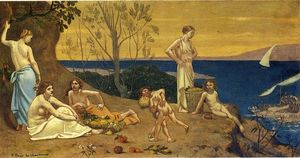 Pierre Puvis De Chavannes - The Happy Land