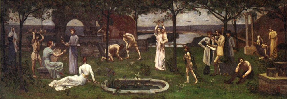 Between Art and Nature, Oil On Canvas by Pierre Puvis De Chavannes (1824-1898, France)