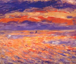 Pierre-Auguste Renoir - Sunset at sea