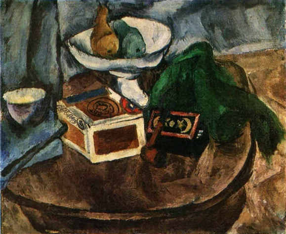 Still Life with a pipe, 1919 by Pyotr Konchalovsky (1876-1956, Russia)