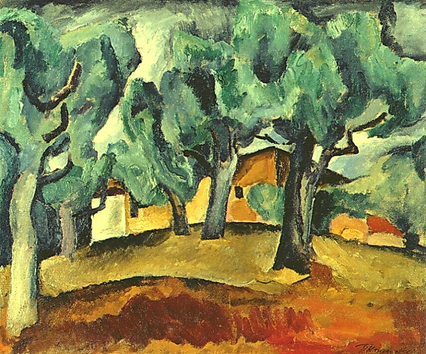 Landscape, Oil On Canvas by Pyotr Konchalovsky (1876-1956, Russia)