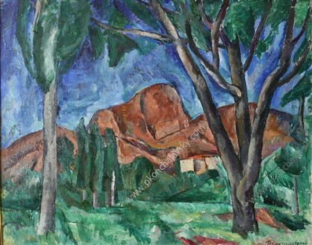 Sudak. The Valley., 1917 by Pyotr Konchalovsky (1876-1956, Russia)