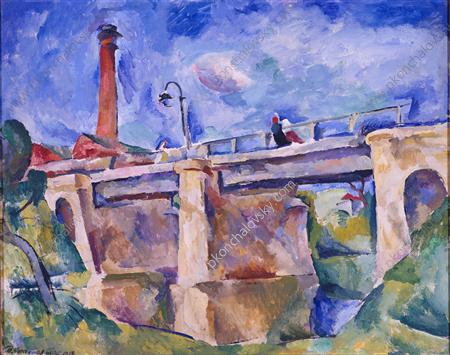 Bridge in Nara. The wind., 1918 by Pyotr Konchalovsky (1876-1956, Russia)