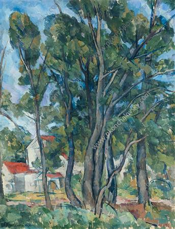 Maples in Abramtsevo, 1920 by Pyotr Konchalovsky (1876-1956, Russia) | Oil Painting | ArtsDot.com