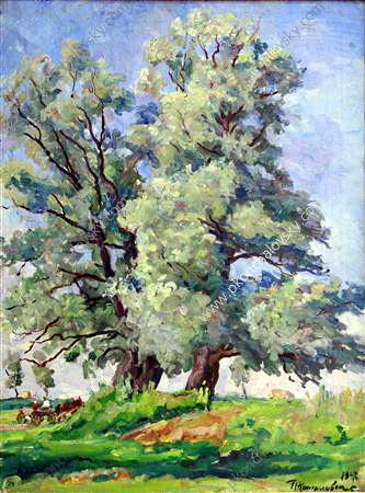 Willows, 1947 by Pyotr Konchalovsky (1876-1956, Russia) | Oil Painting | ArtsDot.com