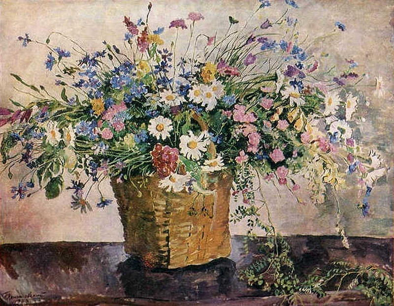 Still Life. Wildflowers., 1938 by Pyotr Konchalovsky (1876-1956, Russia)