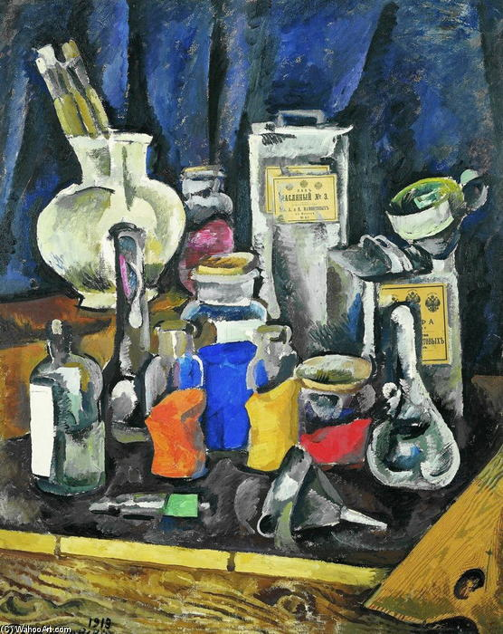 Dry paints, 1913 by Pyotr Konchalovsky (1876-1956, Russia)