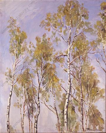 The tops of the birches, 1934 by Pyotr Konchalovsky (1876-1956, Russia)