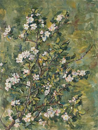 Flowering apple branch, 1935 by Pyotr Konchalovsky (1876-1956, Russia)