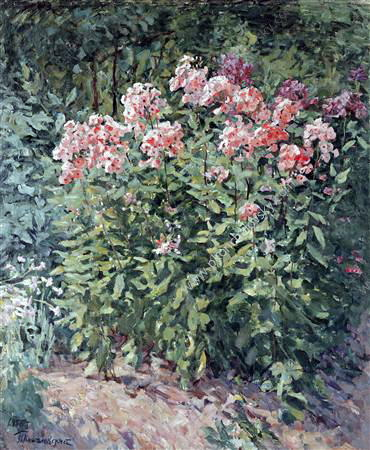 Phlox on track, 1955 by Pyotr Konchalovsky (1876-1956, Russia)
