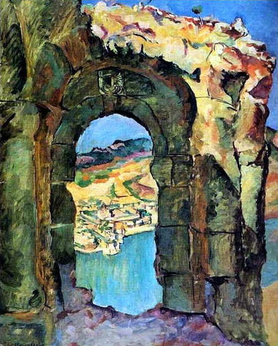 From the ruins of the Mtsyri, 1927 by Pyotr Konchalovsky (1876-1956, Russia)